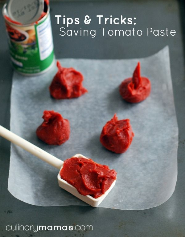 Does your recipe not require the entire tomato paste can? This easy little tip & trick will help you to save tomato paste. culinarymamas.com