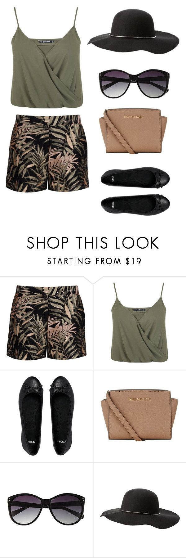 """Day Out At The Zoo"" by emymoo ❤ liked on Polyvore featuring Ted Baker, Miss Selfridge, ASOS, MICHAEL Michael Kors, Vince Camuto and Charlotte Russe"