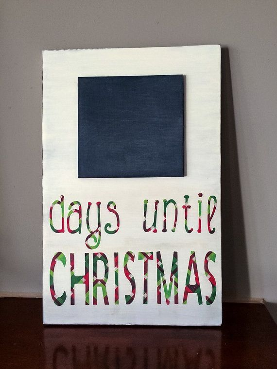 Countdown till christmas wooden by HouseDecorAndMore on Etsy