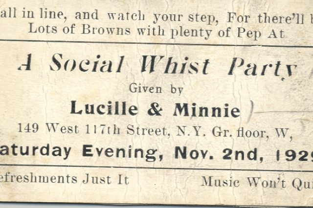 A community-based -- and sexy AF -- way of responding to the economic marginalization of Black people in the U.S. during the Depression. Rent parties: let's jazz and jam to get these rents paid!