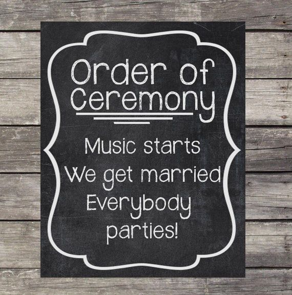 Instant Download Chalkboard Wedding Sign by OurLittleMoments