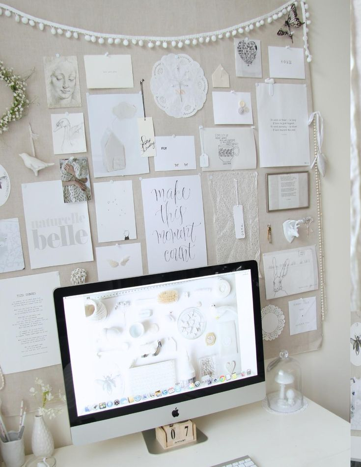 office pinboard. love the pinboard office
