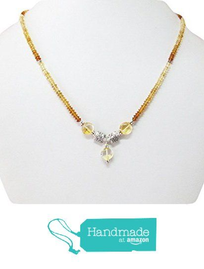 Natural Yellow Citrine beaded necklace with sterling silver beads ,Beaded necklace,Gemstone necklace from anushruti https://www.amazon.com/dp/B01F6WGXQQ/ref=hnd_sw_r_pi_dp_mNQvyb9E74GEC #handmadeatamazon