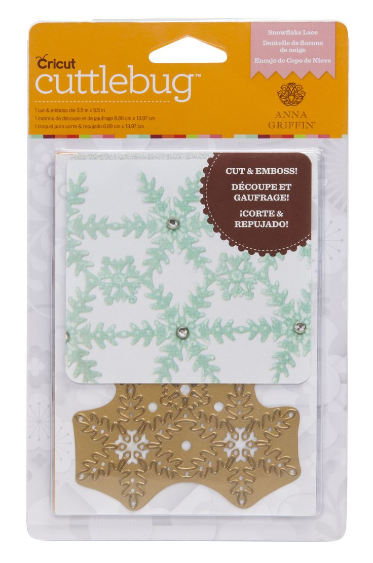 anna griffin cuttlebug cut amp emboss die   snowflake lace