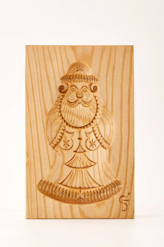 DEDUSHKA MOROZ wooden mold for pryaniki and by PryanikiAndCookies