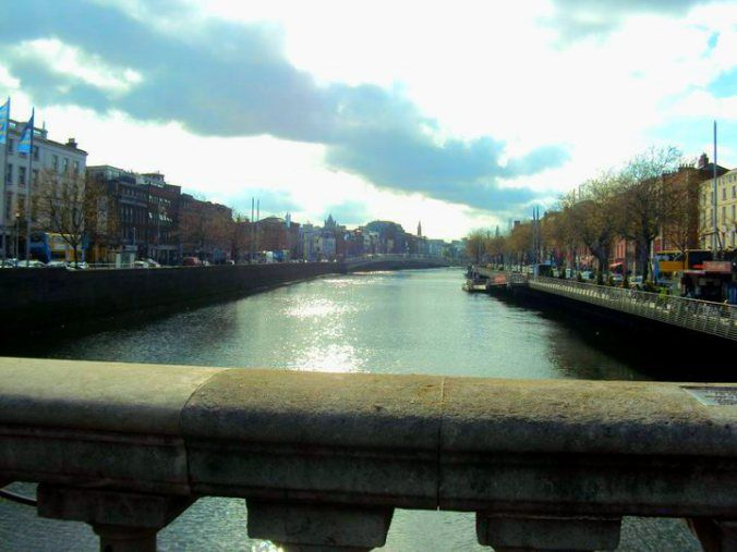 River Liffey in Dublin, April 2011