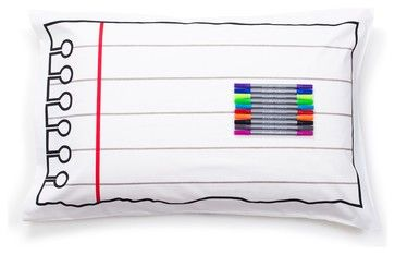 DoodleDoodle Pillowcase - Draw on it, Wash it, Do it again eclectic-pillowcases-and-shams