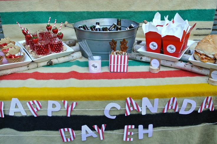 canada day party inspiration, eh