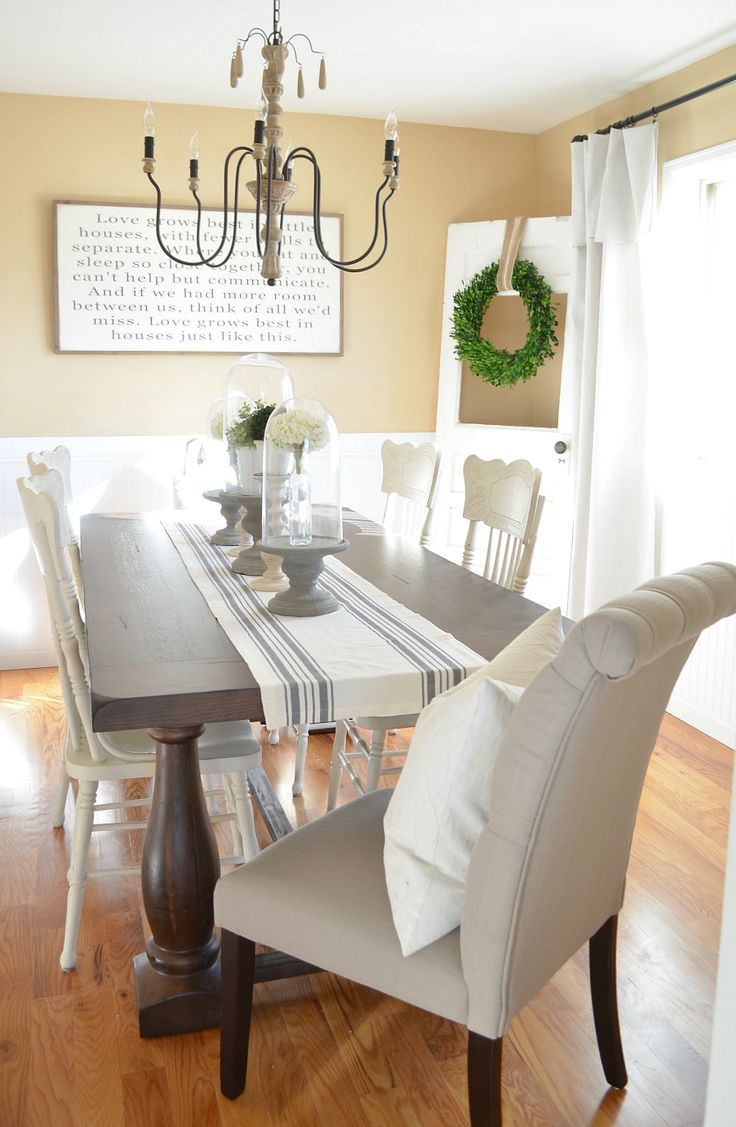 Modern Farmhouse Dining Room Makeover. Best 25  Dining room makeovers ideas on Pinterest   White dining