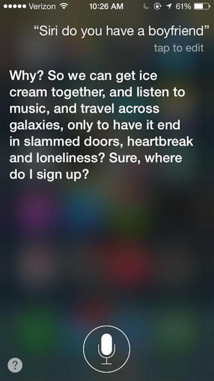 Ohh Siri You Always have Weird Answers 14 photos Morably