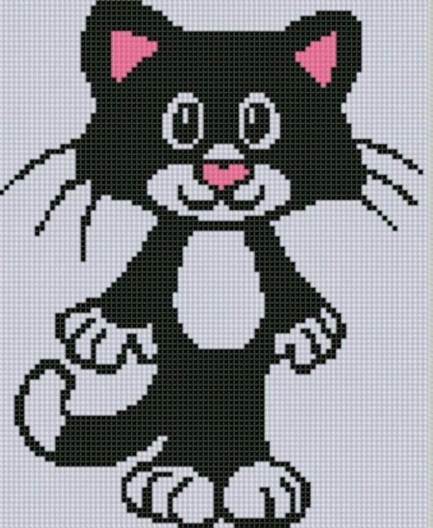 Cat graph Black & White Originally posted by Ana Sanchez-Vizcaino