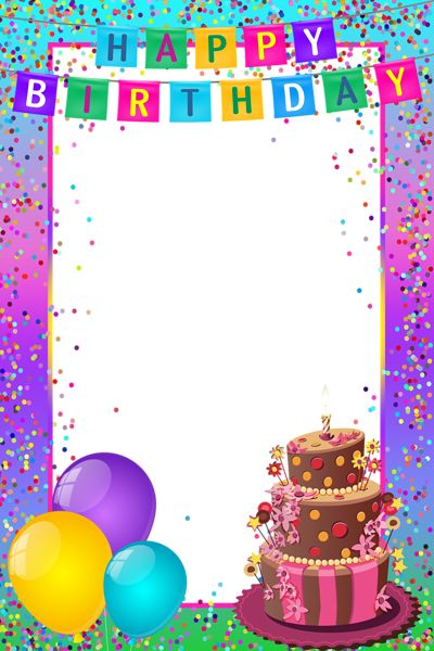 30 best Happy Birthday Frames images on Pinterest | Birthday frames ...