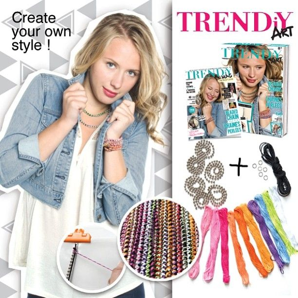 Trendiy art beaded chains jewelry kits. D.i.Y accessories. We actually think it's the perfect christmas gift for you and your friends. #xmas gift idea