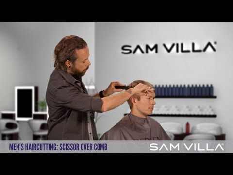 ▶ Men's Haircutting: Scissor Over Comb Technique - YouTube