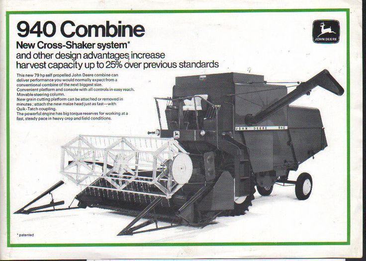"""John Deere """"940"""" Combine Brochure Leaflet • £5.00 - PicClick UK"""