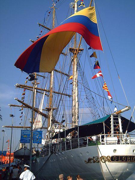 BUQUE GLORIA - El ARC Gloria es el buque escuela perteneciente a la Armada de Colombia y el buque insignia de su academia naval. Fue construido en España en 1968 y es el más pequeño y antiguo de los cuatro veleros hermanos construidos por el mismo astillero