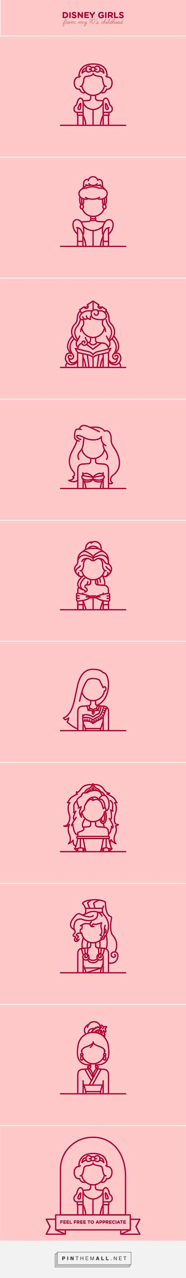 Princesses Disney minimaliste