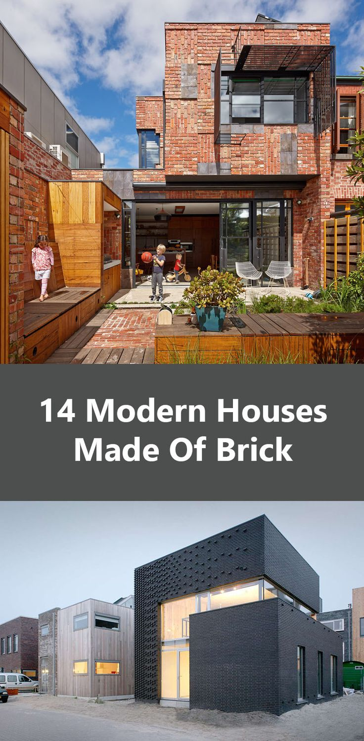 14 Modern Houses Made Of Brick. More design ideas here http://homemages.com/category/architecture-interior-design