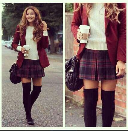 Preppy college outfit style