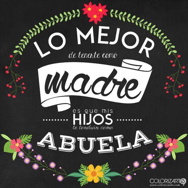Aunque el Día de la Madre son los 365 días del año, hoy toca celebrarlo. ¡Felicidades, mamás! :: by Colorizarte.com