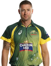 Michael Clarke (Captain)      Role: Batsman    Bats: Right Hand Bat    Bowls: Slow Left-Arm    Date of Birth: 02 Apr 1981    Having burst onto the international scene as a 23-year-old, the man known as 'Pup' has matured into the top dog of Australian cricket