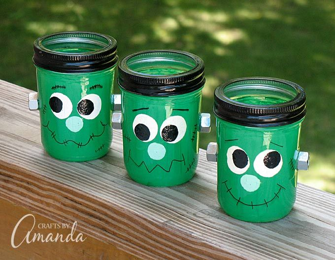 frankenstein mason jar craft 17 best images about jar crafts on jars 4503