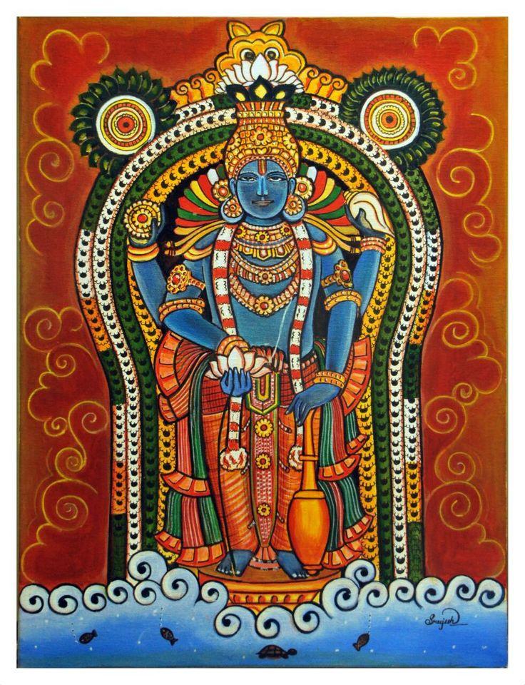 Mural painting ...Lord krishna   By Sreejesh