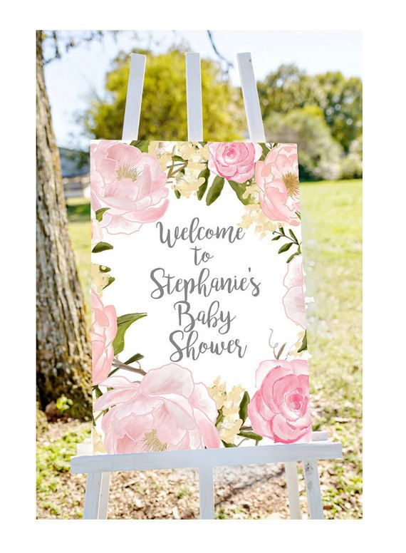 Baby shower welcome sign Welcome to baby by Papierscharmants