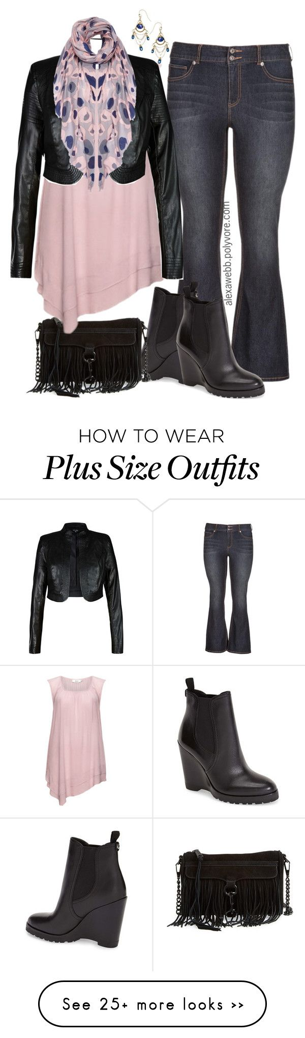 """""""Plus Size Flares"""" by alexawebb on Polyvore featuring maurices, MICHAEL Michael Kors, Rebecca Minkoff, Zizzi, City Chic, Lipsy and Urban Posh"""