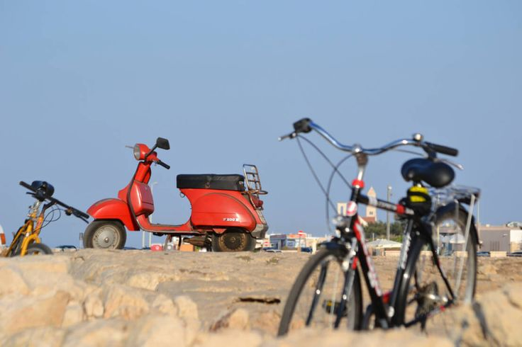vespa e bicicletta