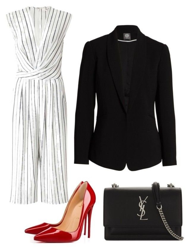 """""""Office Look"""" by anielle-fashion on Polyvore featuring Miss Selfridge, Christian Louboutin, Yves Saint Laurent and Vince Camuto"""