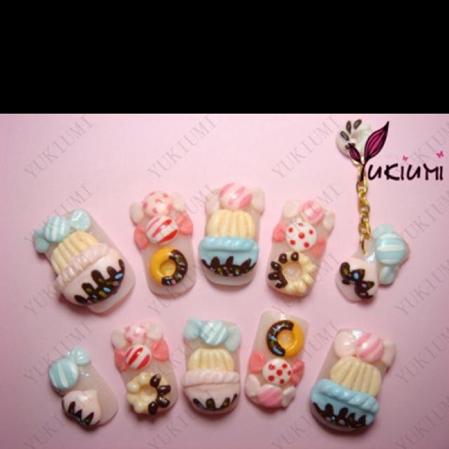 18 best Japanese nail art images on Pinterest   3d nails art ...