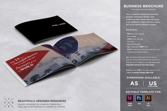 Business Brochure Template by Andre28 on @creativemarket