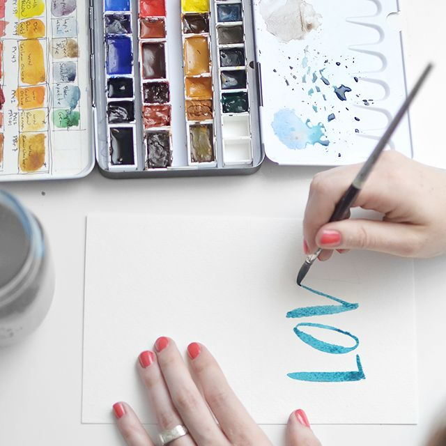 Tutorial: Lettering with Watercolors #diy