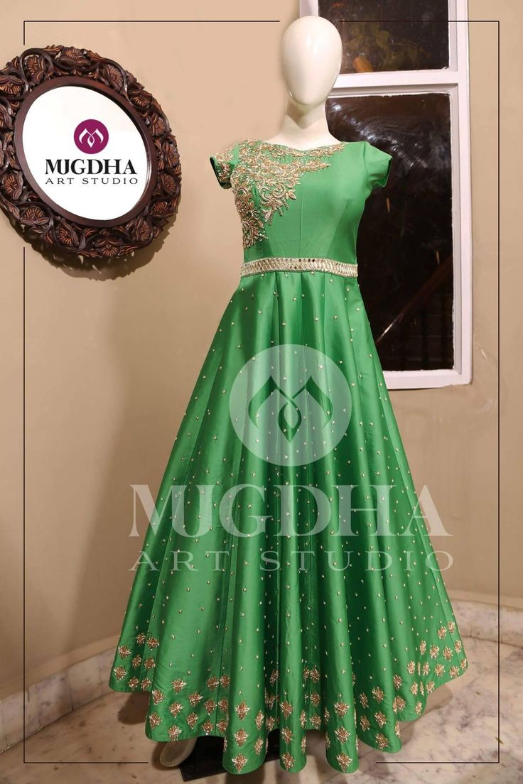 Your Favorite Anarkali s are Back in Mugdhas . Green Anarkali with lovely Hand Made design . They can customize the color and size as per your requirement Product code : MA-125To Order: whatsapp +91 8142029190/ 9010906544 For Call: 8899840840 (IVR) 25 June 2017