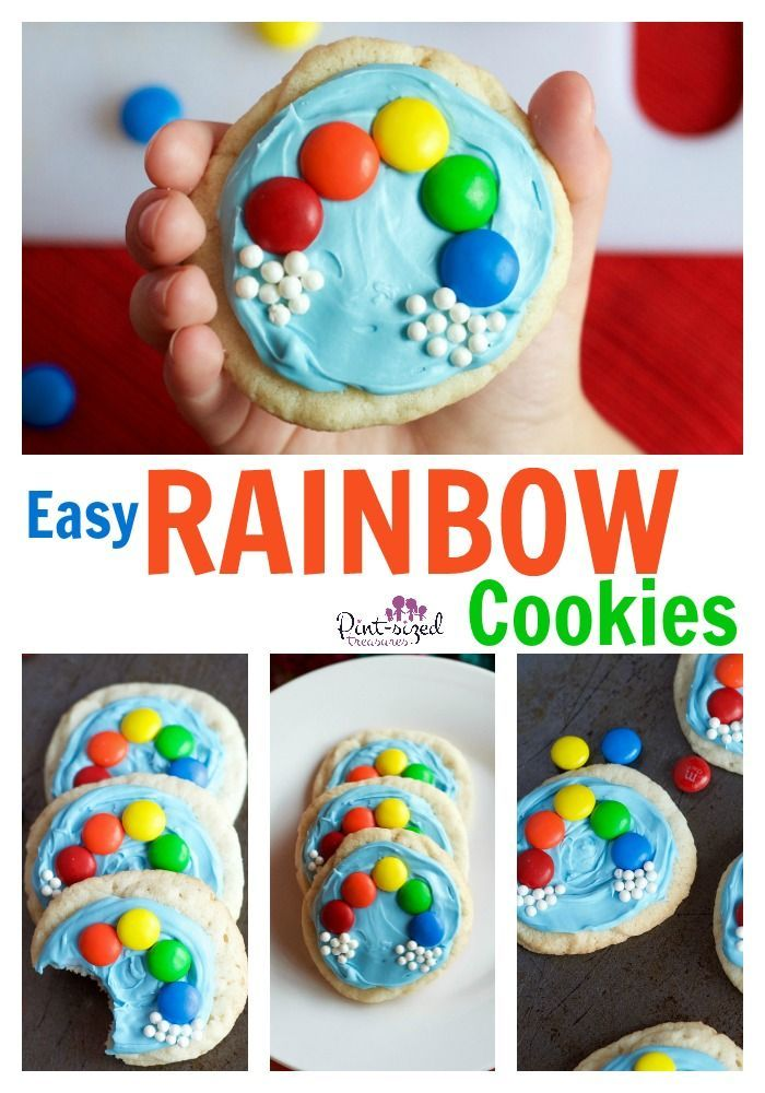 Easy rainbow cookies that will make you and your kids smile! Great for large groups of all ages to make together! Too cute and too simple to miss! @alicanwrite