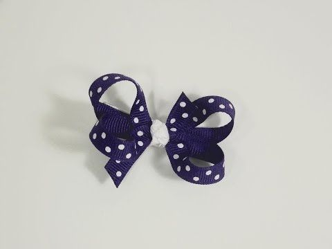 How to make infant/baby hair bows that stay in the hair (velcro bow tutorial) - YouTube