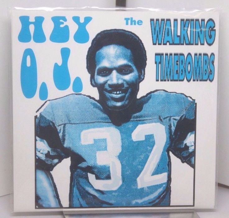 """WALKING TIMEBOMBS Hey OJ / White Bronco 7"""" 1994 novelty Limited Ed #32/1000 kbd  The """"Juice"""" gets LOOSE!"""