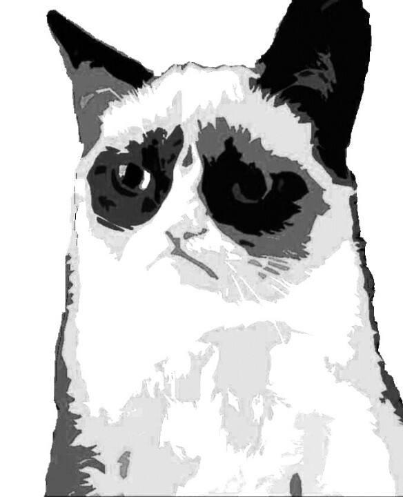 clipart grumpy cat - photo #3