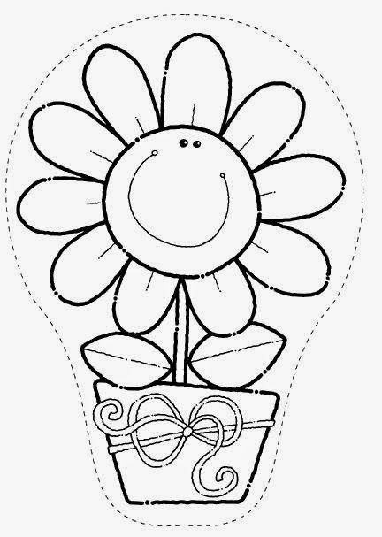 Dibujos De Flores Para Colorear Parte 6 Manualidades Pinterest