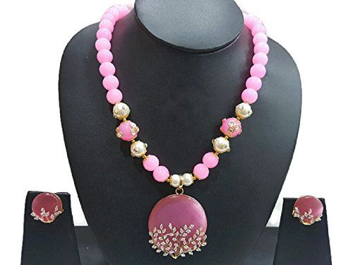 Pink Pearls Indian Bollywood Gold Plated Cz American Diam... https://www.amazon.com/dp/B06WD57J96/ref=cm_sw_r_pi_dp_x_c8vPybJ1GYBJ0