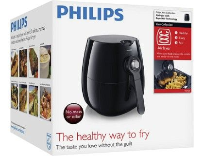 Philips - Viva Collection Airfryer Low-Fat Multicooker - Black/Silver - AlternateView15 Zoom