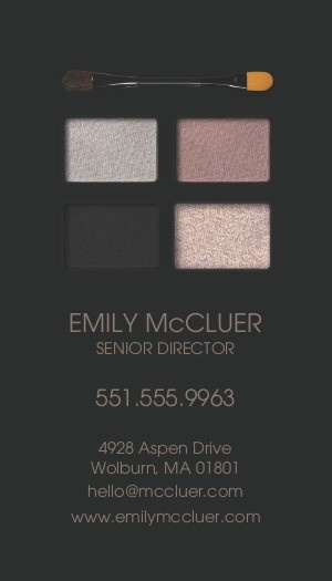 123Print Health + Beauty Business Cards: Smokey Eye #businesscards