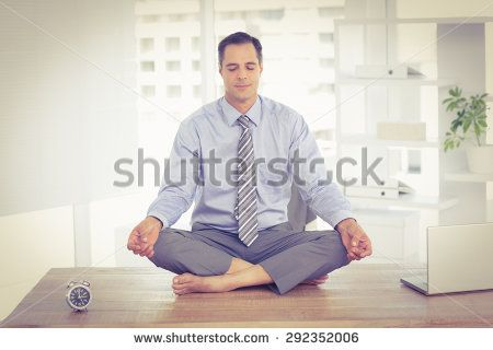 Relaxation of businessman in the office