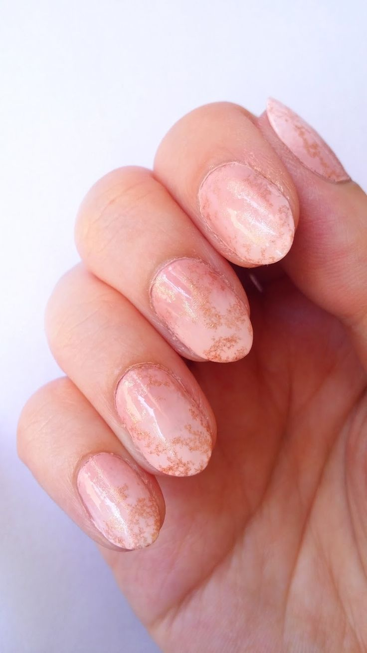 Ombre Marble Stone Nails