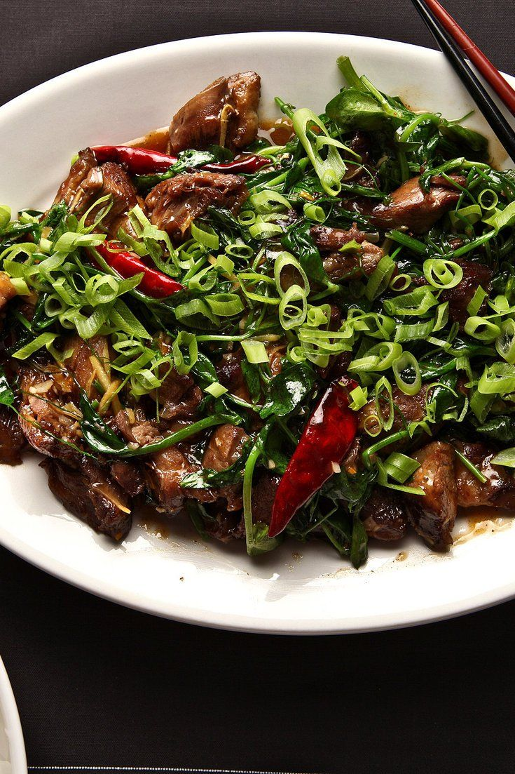 NYT Cooking: Twice-Cooked Duck With Pea Shoots