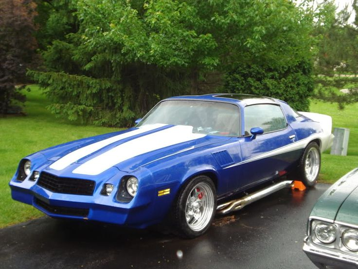 78 Camaro With Sidepipes And Motion Stripes Love My