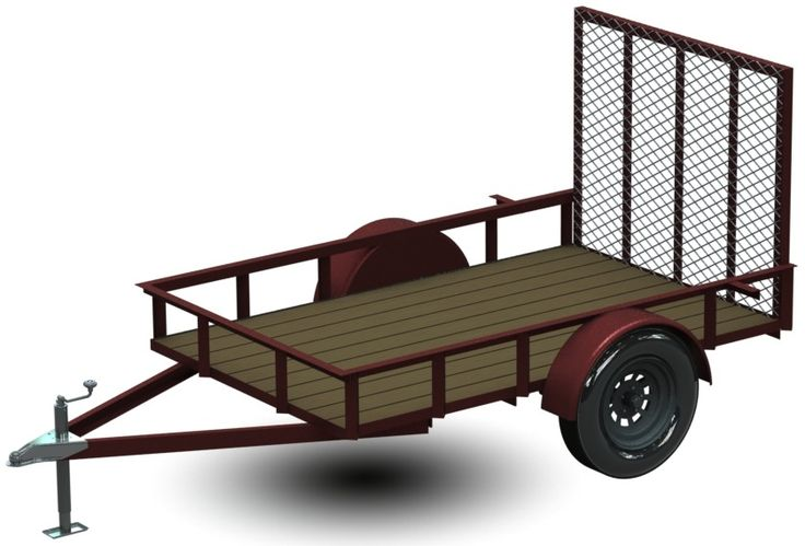 5x8 Single Axle UTILITY Trailer Plans. Professionally designed plans show you how to build this trailer for less! Complete and thorough Metal Fabrication Shop Drawings with Purchased Parts Suppliers! Everything you need to build yourself. Details - http://gizmoplans.com/5x8-utility-trailer-plans
