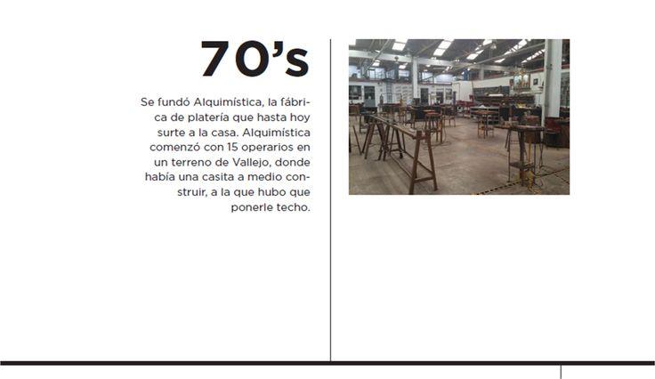 Es durante esta década que se funda Alquimística, la fábrica de platería que hasta el día de hoy surte a la casa #TANE #joyería #orfebrería #plata #oro #historia #diseño #tradición #pasión #hechoenMéxico http://www.tane.com.mx/cronologia/