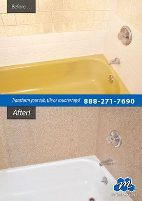Don't replace - refinish! : Bathtub Refinishing - Do you need to refinish your bathroom tub? Do you want to change the color of your tub? Save thousands with bathtub refinishing by Miracle Method!